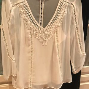 Gorgeous cream sheer top with Camisole